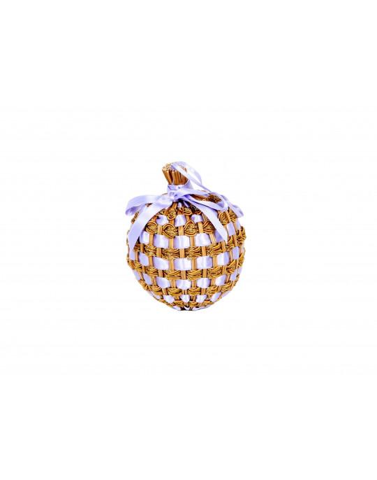 Lavender ball with satin ribbon